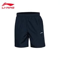 李宁男子训练系列平口运动短裤运动服AKSL077