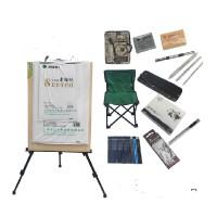 20件素描工具套装 画架画板画凳 素描铅笔套装 写生素描套装,工具