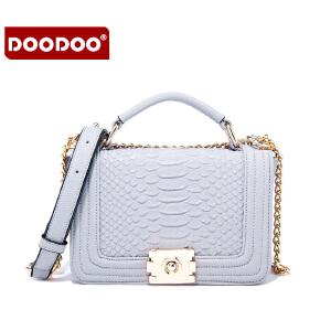 DOODOO 2017新款女包时尚包包日韩风范甜美淑女单肩包百搭手提女士包包 D6050