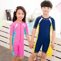 云博 儿童连体短袖游泳衣防紫外线男女孩泳装沙滩冲浪潜水服防晒水母衣