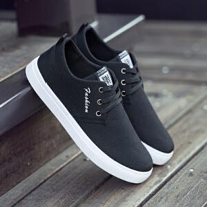 2017新款韩版休闲鞋板鞋春季男士帆布鞋潮鞋男鞋子透气百搭低帮鞋