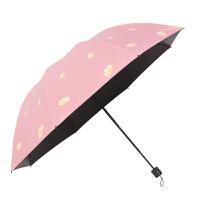 红叶伞飞花晴雨伞黑胶折叠防晒防紫外线遮阳学生伞女小清新太阳伞