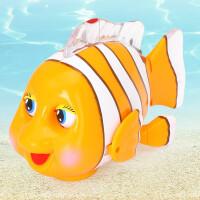 机灵小丑鱼电动万向旋转玩具音乐爬行2岁宝宝神奇乐宝鱼车