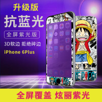 iphone6plus  手机保护壳/软胶壳/彩绘保护壳/3D曲面紫光碳纤维钢化膜/前钢化膜+后壳