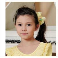 韩版时尚甜美女童雪纺珍珠发圈精致百搭耐用儿童表演出头饰发绳