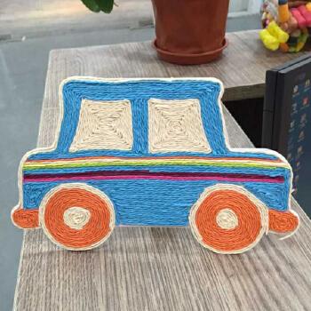 梦童工坊纸绳画儿童手工制作材料 幼儿园diy粘贴画 绳子艺术玩具
