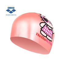 Arena阿瑞娜 可爱卡通泳帽 儿童泳帽 HELLO KITTY系列 防水正品