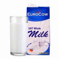 [当当自营] 德国进口 优佳(EUROCOW)全脂纯牛奶 1L*4盒