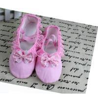 儿童舞蹈鞋练功鞋软底带舞蹈软底鞋皮头两底鞋猫爪舞鞋