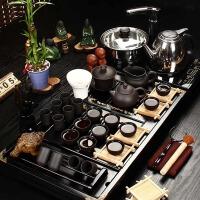 尚帝 陶瓷紫砂套装 杯架实木-功夫茶具茶盘套装XMBH2014-015A1