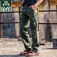 战地吉普新款工装裤男式运动休闲裤青年休闲裤学生宽松跑步个性多袋裤