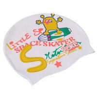 新款儿童硅胶泳帽可爱卡通男女童游泳帽防水护耳青少年泳帽