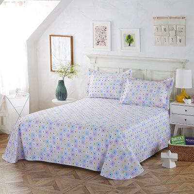 当当优品 纯棉斜纹床上用品 床单250*230cm 天空之城B款当当自营 100%纯棉 不易褪色 0甲醛 透气防潮 大尺寸