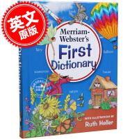 [现货]英文原版 Merriam-Webster's First Dictionary 韦氏初级儿童图片字典 适合5-7岁宝宝 含上百张图片可学习约3000个英语词汇