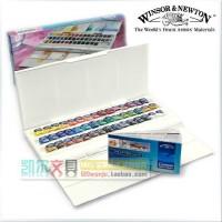 温莎牛顿歌文Cotman 固体水彩颜料半块状套装45色块|工作室套装