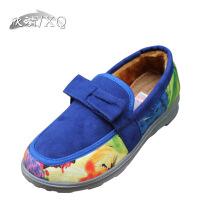 XQ/欣清冬季 居家休闲保暖防寒滑老北京平底包跟加绒室内外棉拖鞋