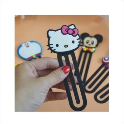 包邮 卡通软硅胶彩色龙猫回形针大号书签 可爱萌动物分页曲别针2个装