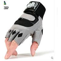 手套耐磨防滑护腕护手掌健身房哑铃 男士透气半指运动健身