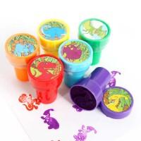 大贸商 儿童动物玩具 恐龙印章 韩国文具 无需印泥6个-SS00098