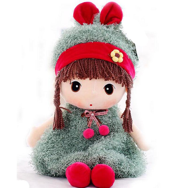 凯弘 卡通菲儿 布娃娃 可爱洋娃娃 毛绒公仔 布偶小女孩玩具 皮草菲儿