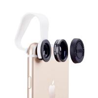 通用手机镜头 iphone6s plus镜头 5/5S镜头 苹果 安卓 小米 华为 魅族 荣耀 红米 三星 vivo oppo 特效外置摄像头 广角 微距 二合一套装手机镜头 自拍神器