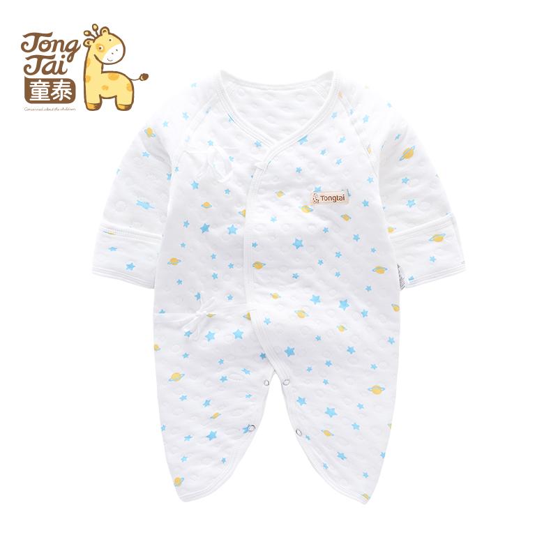 童泰秋季新款婴幼儿衣服新生儿连体衣内衣男女宝宝新品连身衣爬服