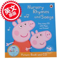 [现货]英文原版小猪佩佩奇粉红猪小妹CD书含乒乓歌BingBongSong,猪爷爷的小火车等Peppa Pig: Nursery Rhymes and Songs Picture Book andCD