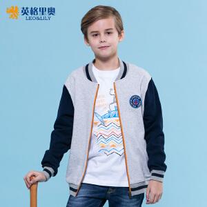 2017新款春秋装男童中大童运动男孩休闲棒球衫拉链开衫夹克外套