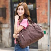 吉野帆布包新款时尚女包包女士手提包单肩包斜挎包简约休闲大包包韩版女包包短途旅行包318D2