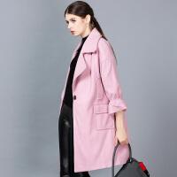 �莱毛呢外套女中长款加厚2016新款灯笼袖韩版修身显瘦呢子大衣秋冬潮