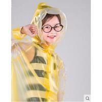 韩国小孩带书包位儿童雨衣 男童女童小学生儿童雨衣 雨披可配雨鞋儿童雨衣