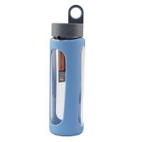 【当当自营】乐扣乐扣(lock&lock)硅胶杯套 耐热玻璃水杯-I型(510ml) LLG933B天蓝色