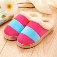 【支持礼品卡支付】女拖鞋棉拖鞋防滑半包跟鞋月子鞋保暖厚底居家鞋木地板家用毛毛拖鞋