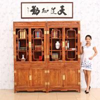 包邮简迪红木家具中式仿古家具花梨木书柜组合实木书架多宝阁古董架储物柜