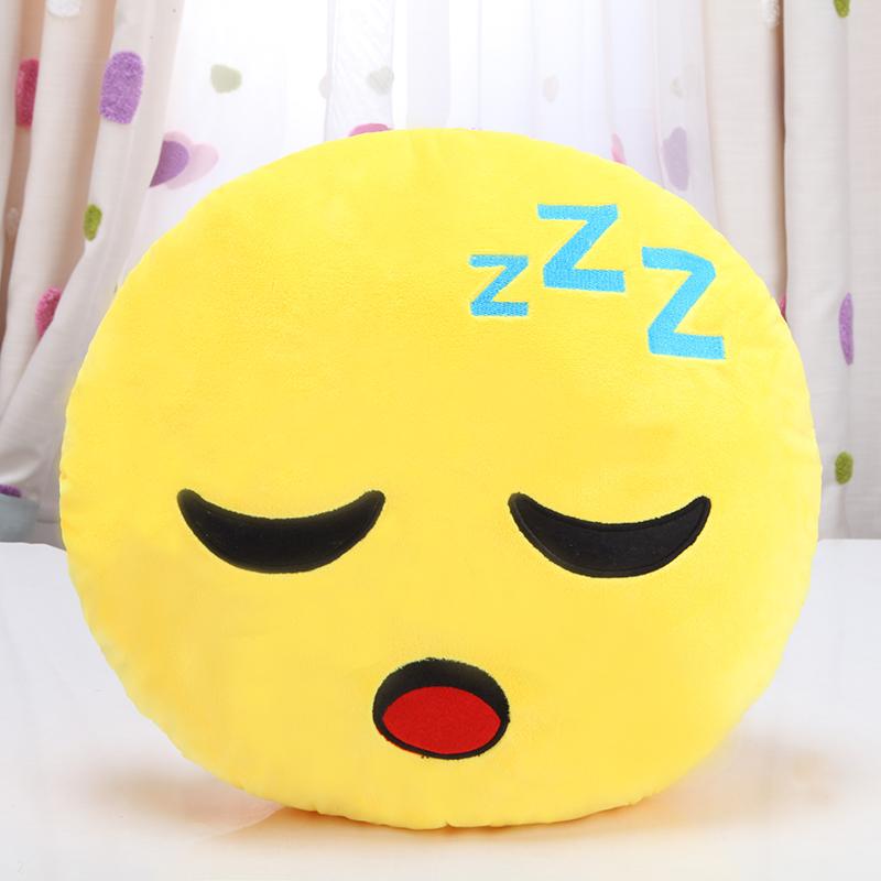 可爱qq表情抱枕公仔卡通睡觉枕头靠垫萌emoji软绵绵 男女生日礼物