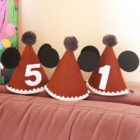 韩版 宝宝周岁生日派对帽子派对用品 无纺布米奇款生日帽1个