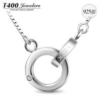 T400爵士S925银镶嵌施华洛世奇锆石项链10655