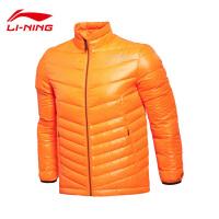 李宁男子运动生活防风透湿修身型短款羽绒服AYML145