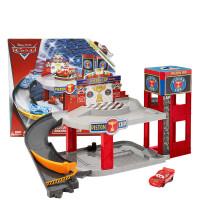 赛车总动员3 CARS活塞杯赛道停车库麦昆DWB90 男孩赛道玩具车
