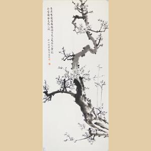 台湾画家徐保恩国画:梅