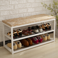 亿家达 鞋架多层家用 简易防尘收纳鞋柜铁艺经济型现代组装换鞋凳