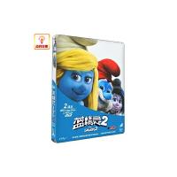 正版电影 蓝精灵2(3D 2D)BD50蓝光碟 铁盒 丹麦限量原装进口