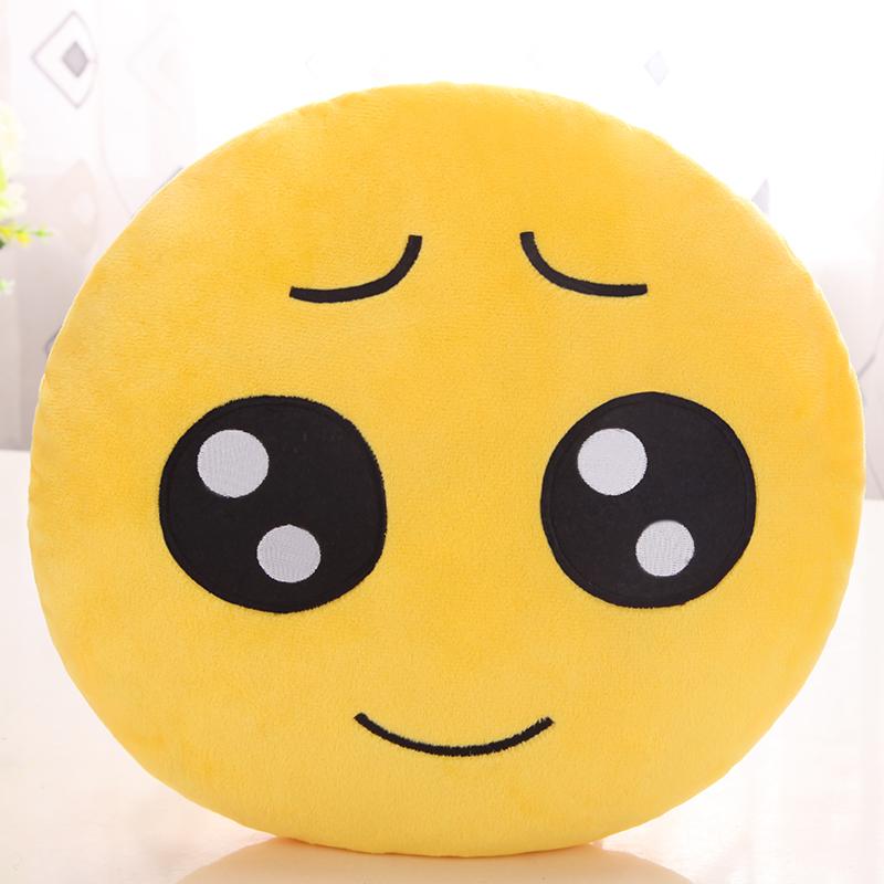 可爱qq表情抱枕公仔卡通睡觉枕头靠垫萌emoji软绵绵 男女生日礼物_可