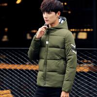 冬装加厚连帽短款棉服韩版长袖潮男棉衣保暖青年外套