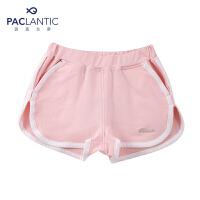 派克兰帝品牌童装 夏装女童撞色针织运动短裤 儿童短裤