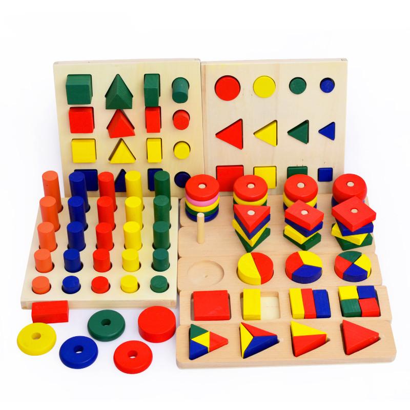 积木配对儿童木制早教蒙氏立体拼图玩具形状几何益智玩具0-1-3岁教具与积木v积木图片