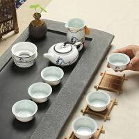 尚帝 陶瓷功夫茶具套装 整套功夫茶具10头 玉瓷套装XM192DYPG1