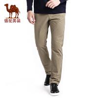 骆驼男装 秋季新款宽松中腰居家纯棉休闲裤男士纯色长裤子