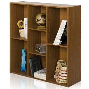 [当当自营]慧乐家 鲁比克创意七格柜11049 深红樱桃木色 书架书柜 收纳储物柜子 优品优质