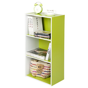 [当当自营]慧乐家 L40三层收纳柜120541 白色绿色 书柜书架 柜子